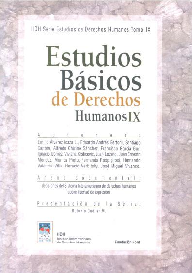 Estudios básicos de derechos humanos, t. IX