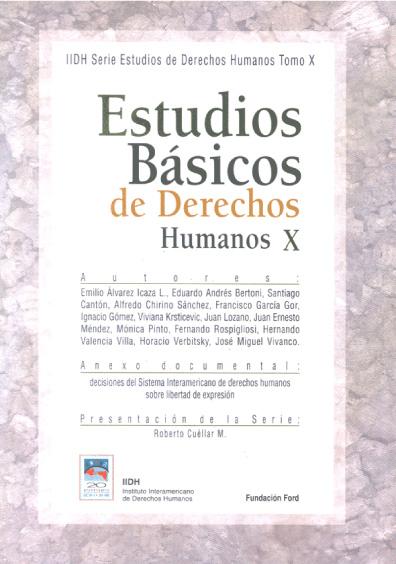 Estudios básicos de derechos humanos, t. X