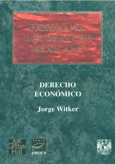 Panorama del derecho mexicano. Derecho económico