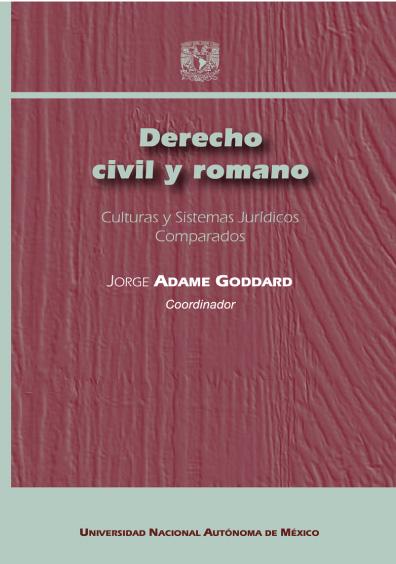 Derecho civil y romano. Culturas y Sistemas Jurídicos Comparados