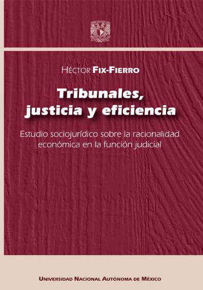 Tribunales, justicia y eficiencia. Estudio sociojurídico sobre la racionalidad económica en la función judicial