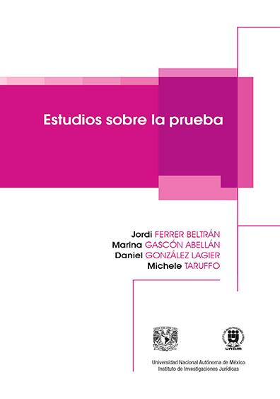 Estudios sobre la prueba, tercera reimpresión