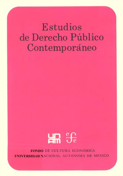 Estudios de derecho público contemporáneo