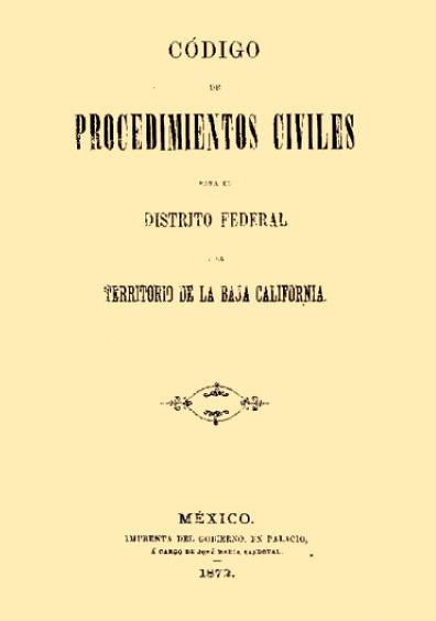 Código de Procedimientos Civiles para el Distrito Federal y el Territorio de Baja California
