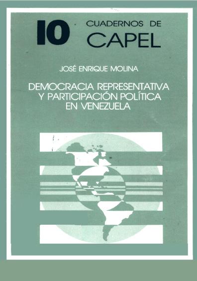 Democracia representativa y paticipación política en Venezuela