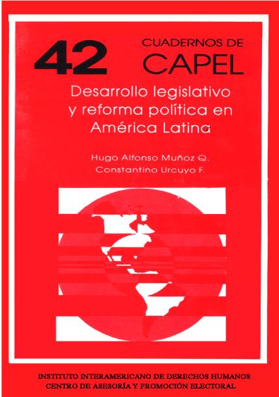 Desarrollo legislativo y reforma política en América Latina