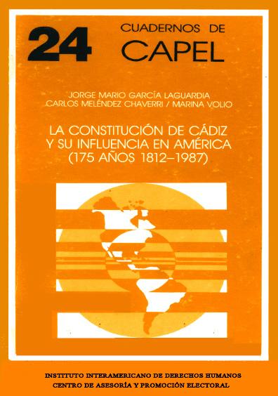 La Constitución de Cádiz y su influencia en América (175 años, 1812-1987)
