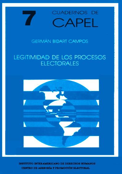 Legitimidad de los procesos electorales