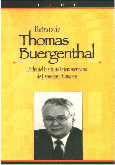 Retrato de Thomas Buergenthal. Padre del Instituto Interamericano de Derechos Humanos