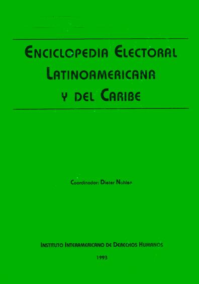 Enciclopedia electoral latinoamericana y del Caribe