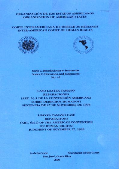 Caso Loayza Tamayo. Reparaciones. Sentencia del 27 de noviembre de 1998