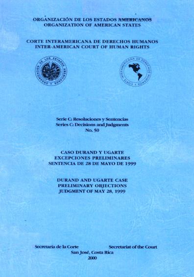 Caso Durand y Ugarte. Excepciones preliminares. Sentencia del 28 de mayo de 1999