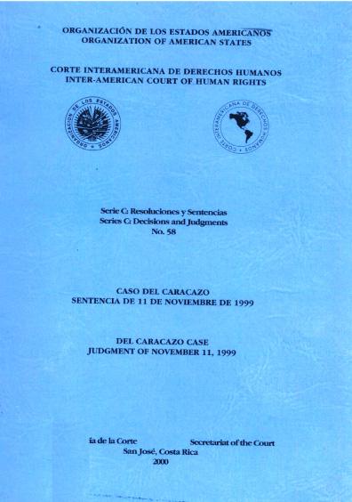 Caso del Caracazo. Sentencia del 11 de noviembre de 1999