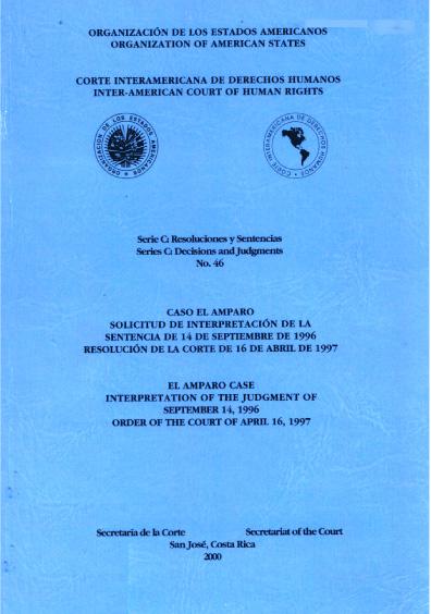 Caso El amparo. Solicitud de interpretación de la sentencia del 14 de septiembre de 1996