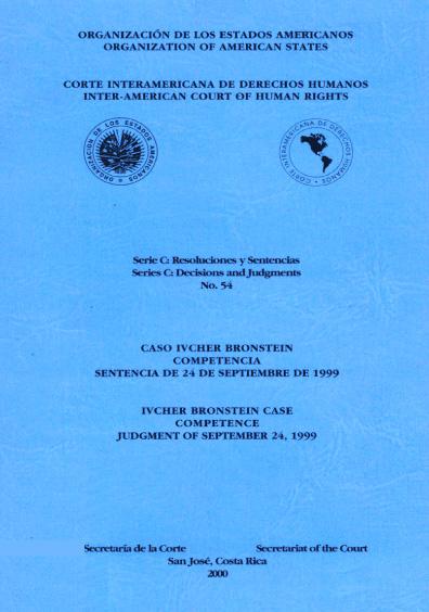 Caso Ivcher Bronstein. Competencia. Sentencia del 24 de septiembre de 1999