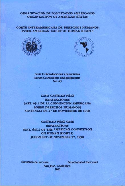 Caso Castillo Páez. Reparaciones. Sentencia del 27 de noviembre de 1998