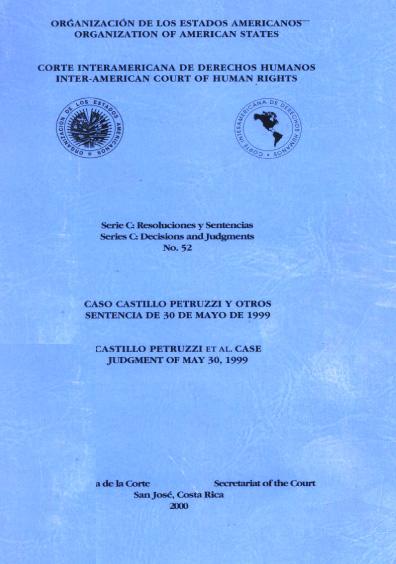 Caso Castillo Petruzzi y otros. Sentencia del 30 de mayo de 1999