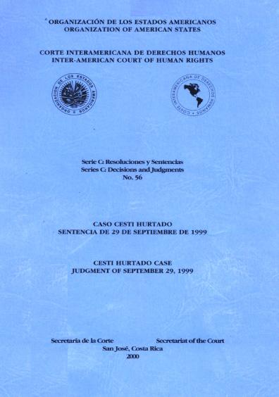 Caso Cesti Hurtado. Sentencia del 29 de septiembre de 1999