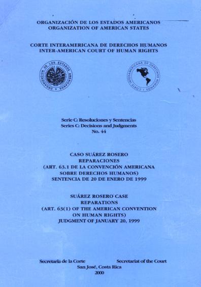 Caso Suárez Rosero. Reparaciones. Sentencia del 20 de enero de 1999