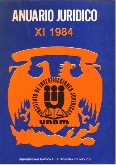 Anuario Jurídico XI-1984