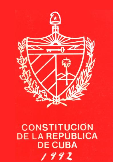 Constitución de la República de Cuba, 1992