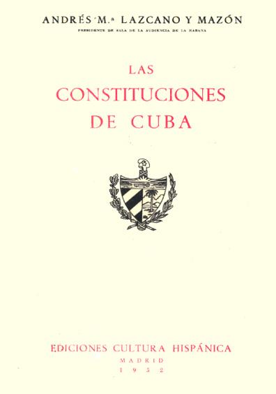 Las Constituciones de Cuba