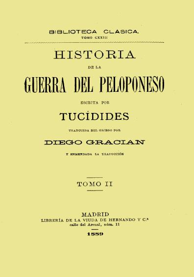 Historia de la Guerra del Peloponeso, t. II