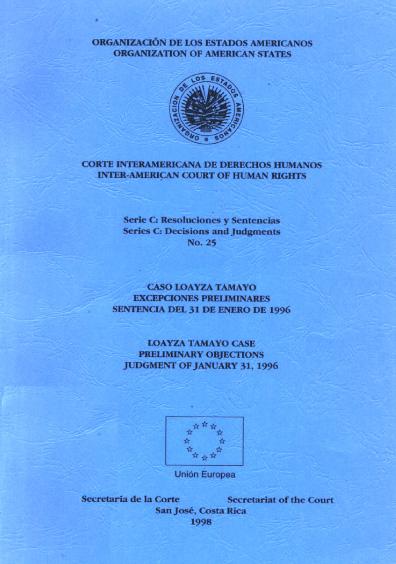 Caso Loayza Tamayo. Excepciones preliminares. Sentencia del 31 de enero de 1996