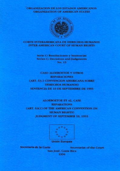 Caso Aloeboetoe y otros. Reparaciones. Sentencia del 10 de septiembre de 1993