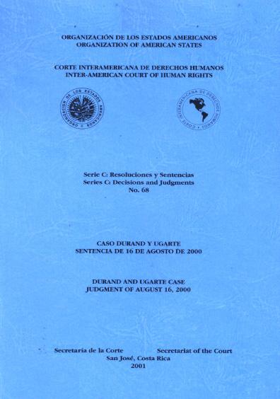Caso Durand y Ugarte. Sentencia del 16 de agosto de 2000