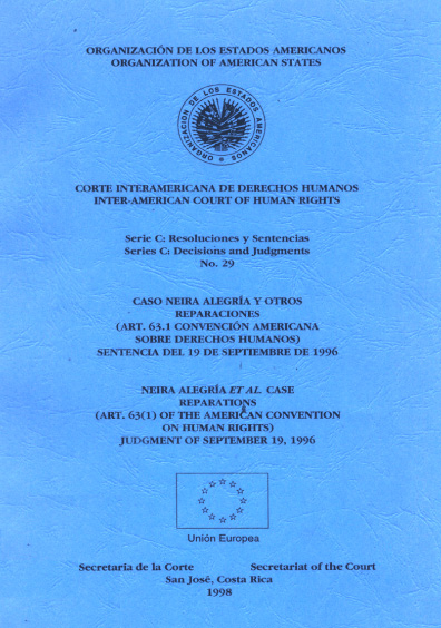Caso Neira Alegría y otros. Reparaciones. Sentencia del 19 de septiembre de 1996