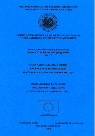 Caso Neira Alegría y otros. Excepciones preliminares. Sentencia del 11 de diciembre de 1991