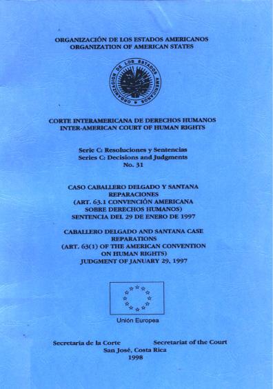 Caso Caballero Delgado y Santana. Reparaciones. Sentencia del 29 de enero de 1997