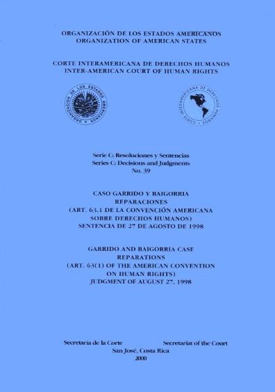 Caso Garrido Ybaigorría. Reparaciones. Sentencia del 27 de agosto de 1998