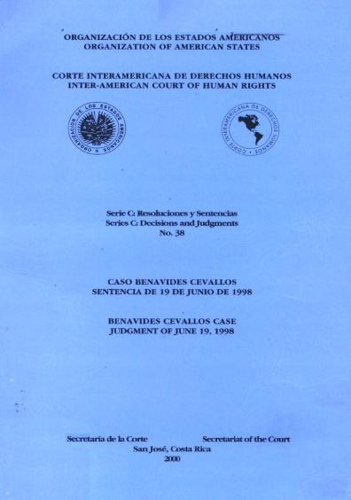 Caso Benavides Cevallos. Sentencia del 19 de junio de 1998