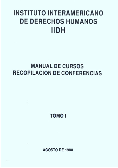 Manual de cursos. Recopilación de conferencias, t. I