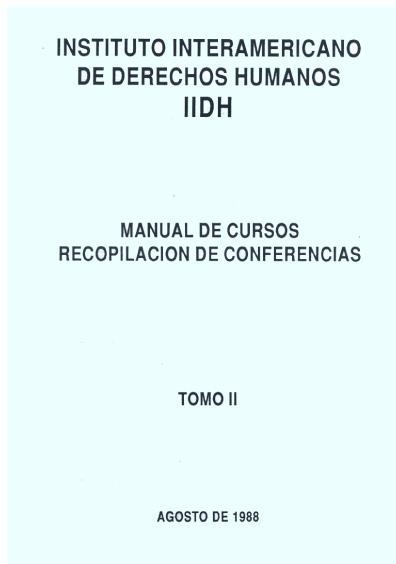 Manual de cursos. Recopilación de conferencias, t. II