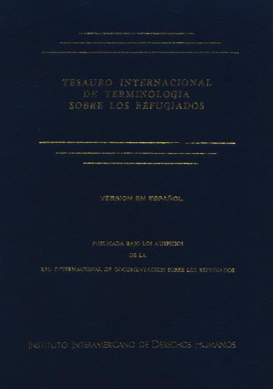 Tesauro internacional de terminología sobre los refugiados