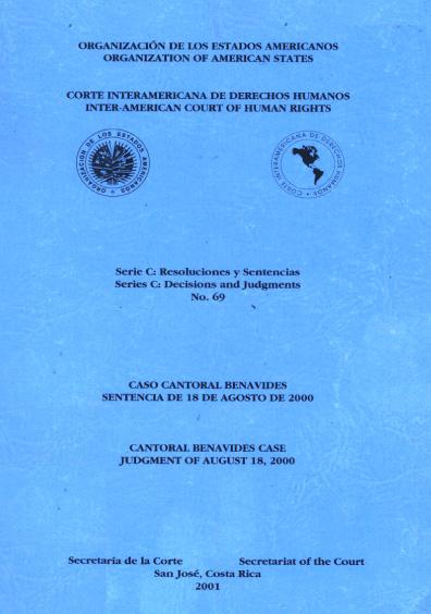 Caso Cantoral Benavides. Sentencia del 18 de agosto de 2000