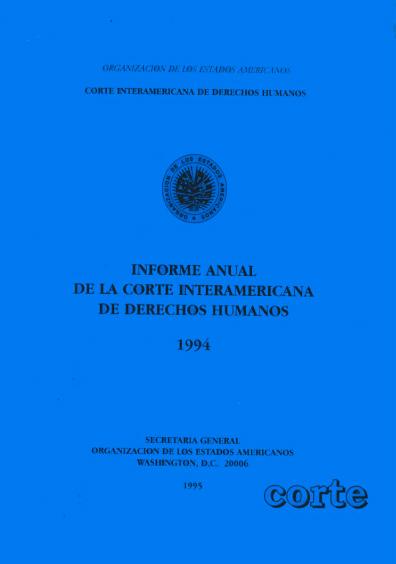 Informe anual de la Corte Interamericana de Derechos Humanos 1994