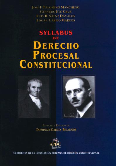 Sylabus de derecho procesal constitucional