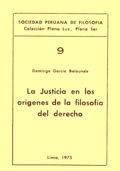 La justicia en los orígenes de la filosofía del derecho