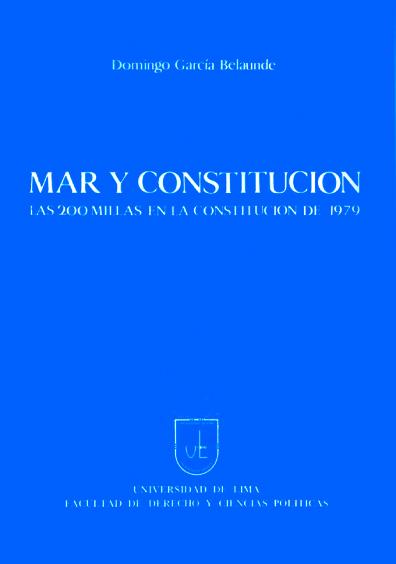 Mar y Constitución. Las 200 millas en la Constitución de 1979