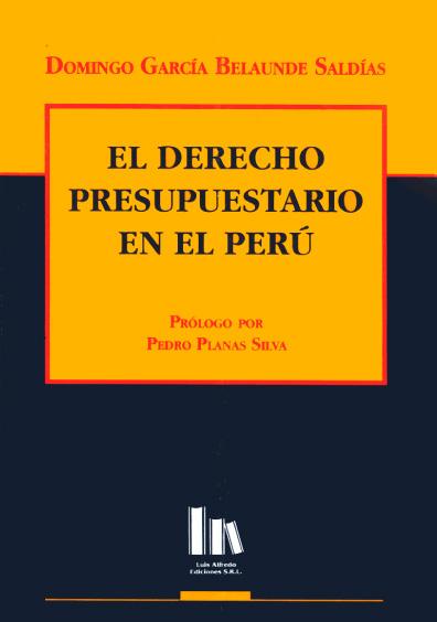 El derecho presupuestario en el Perú