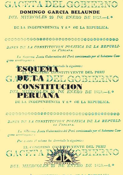Esquema de la Constitución peruana