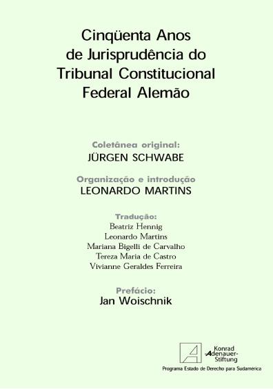 Cinqüenta años de jurisprudencia do Tribunal Constitucional Federal alemão