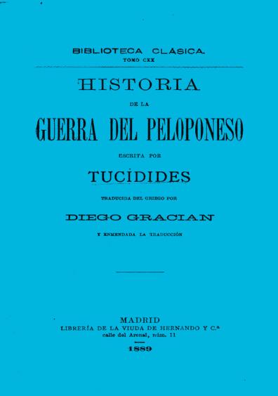 Historia de la Guerra del Peloponeso, t. CXX