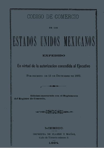 Código de Comercio de los Estados Unidos Mexicanos