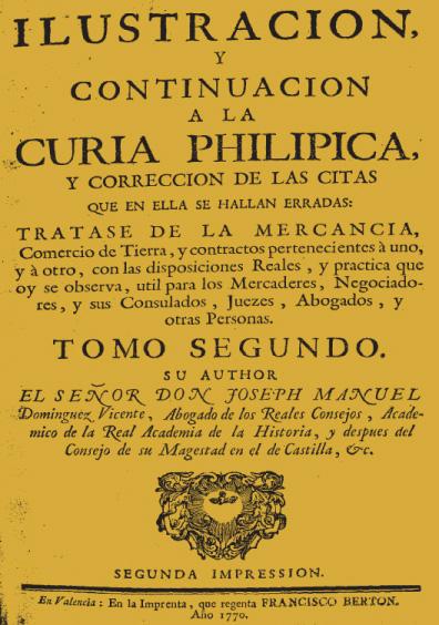 Ilustración y continuación a la Curia philípica, t. II