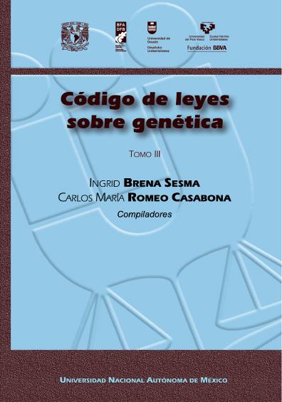 Código de leyes sobre genética, t. III